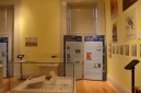 Student research at the exhibit in the Old Capitol Museum