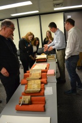 UI Special Collections visit with students and medieval manuscripts expert Erik Kwakkel